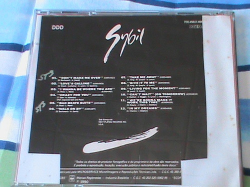 cd sybil 1990 sigem - don´t make me over / walk on by cbs
