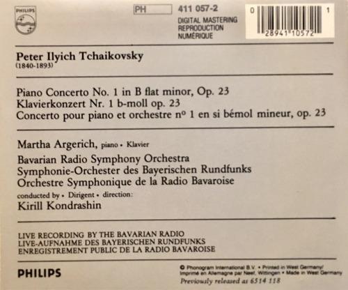 cd tchaikovsky piano martha argerich importado alemania
