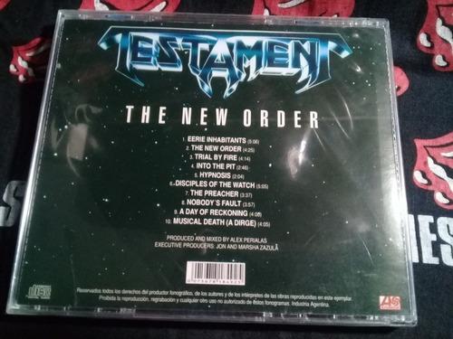 cd testament - the new order  lacrado