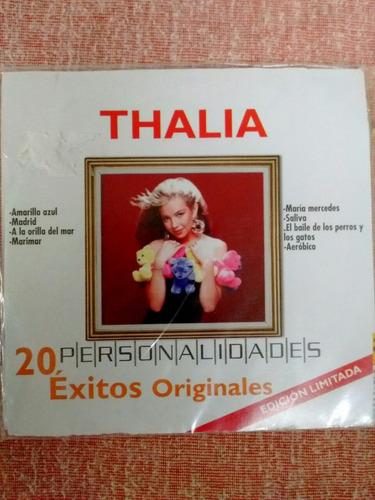 cd thalia 20 exitos originales, de la serie personálidades.-