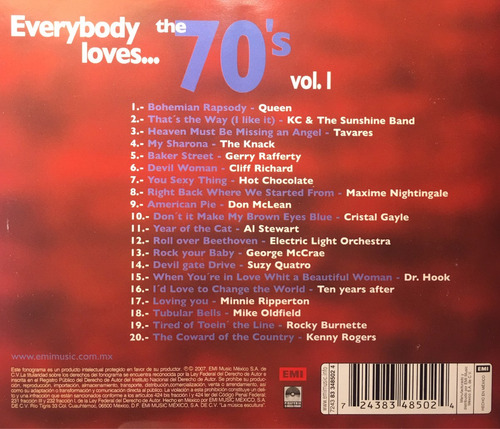 cd the 70s vol1 queen tavares al stewart suzy quatro hook