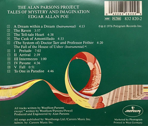cd the alan parsons project tales of mystery and imagination