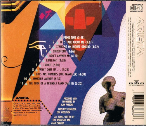 cd the alan parsons project - the best of vol.2 - 11faixas