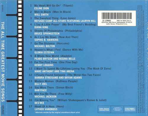 cd the all time greatest movie songs - importado usa