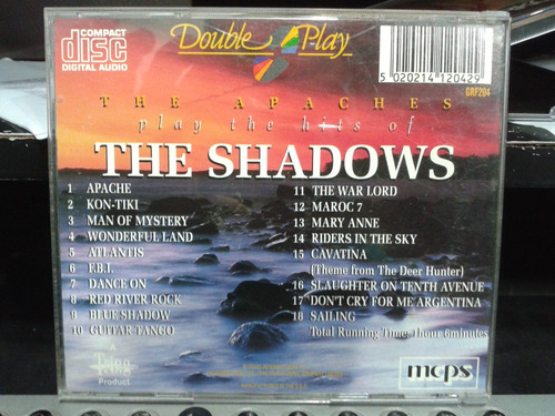 cd - the apaches play - the hits of the shadows