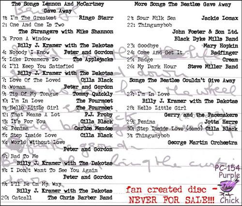 cd-**the beatles**  **songs lennon & mccartney gave away**