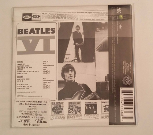 cd the beatles vi importado nuevo