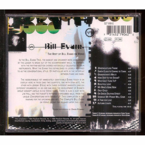 cd the best of bill evans on verve - importado