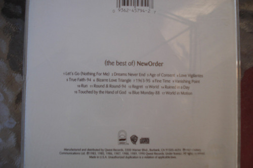cd the best of new order