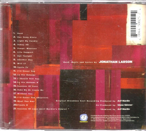 cd the best of rent (import)