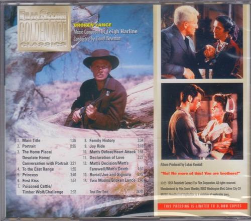 cd the broken lance leigh harline ed ltda film score monthly