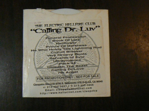 cd the electric hellfire club calling dr luv funeral proce