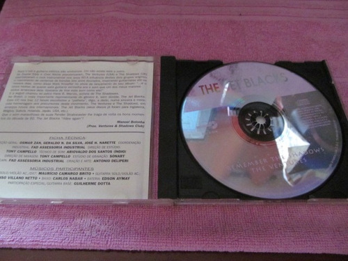 cd  the jet black's  remember the shadows & the ventures