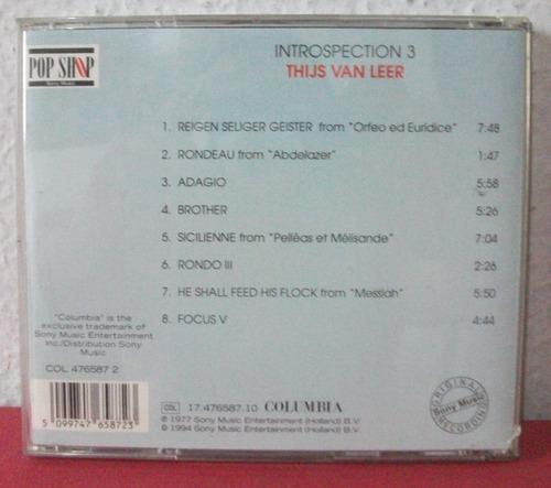 cd thijs van leer - introspection 3 - importado prog - focus