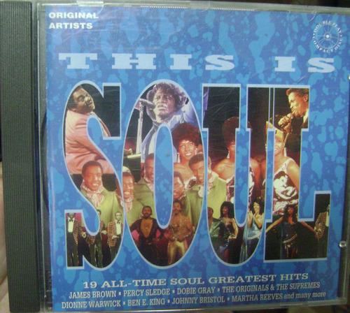 cd  this  is  soul  -  importado  -  b110