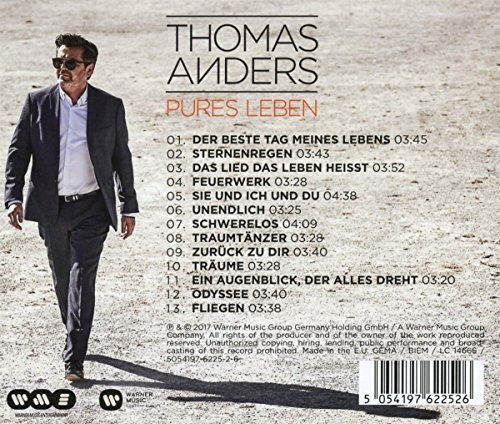 cd : thomas anders - pures leben (germany - import)
