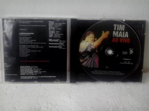 cd tim maia ao vivo , caixa acrilico ed. 1995 .envio 9,00$