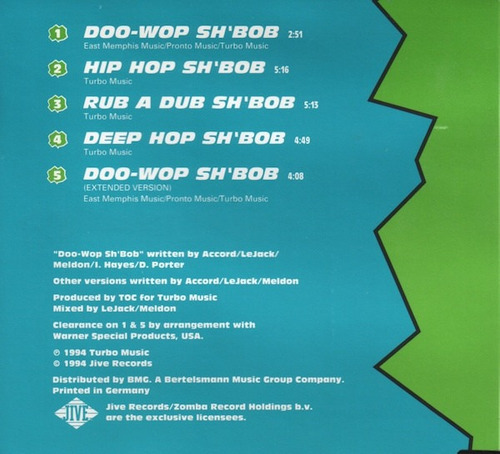 cd  t.o.c.  rocca - doo-wop sh'bob  importado  - b306