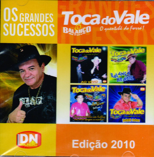 cd toca do vale os grandes sucessos original + frete grátis