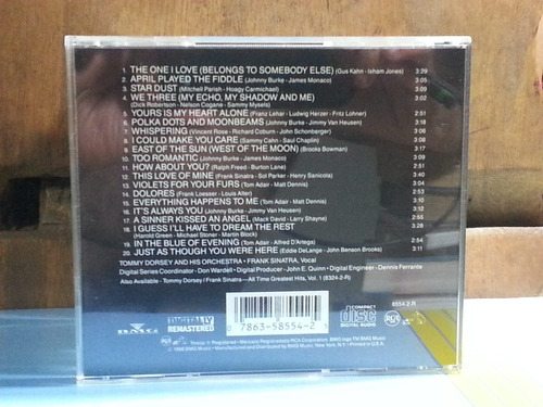 cd tommy dorsey frank sinatra all time greatest vol 2