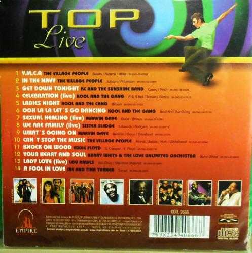 cd top live  lacrado funk dance disco pop rock soul