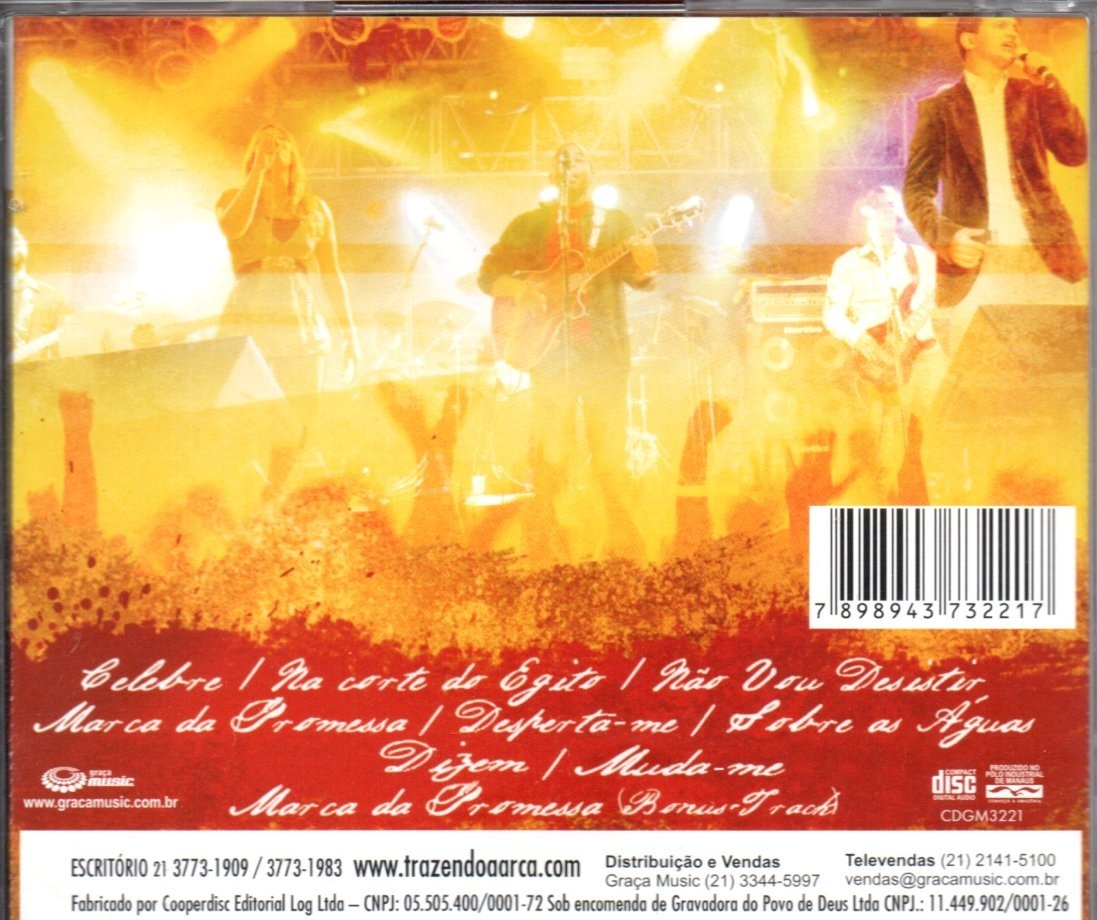 cd marca da promessa trazendo a arca playback