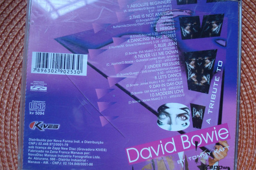 cd tributo a david bowie by tommy kaft