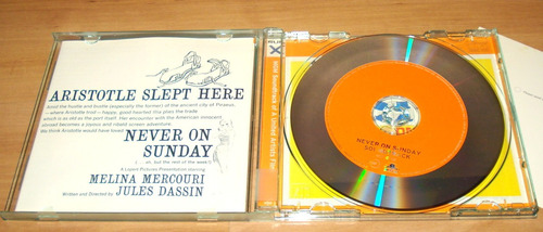 cd trilha do filme  never on sunday  por manos hadjidakis