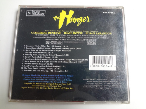cd trilha sonora do filme the hunger importado