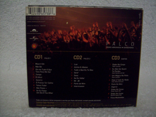 cd triplo original pedro abrunhosa- palco- part.  lenine