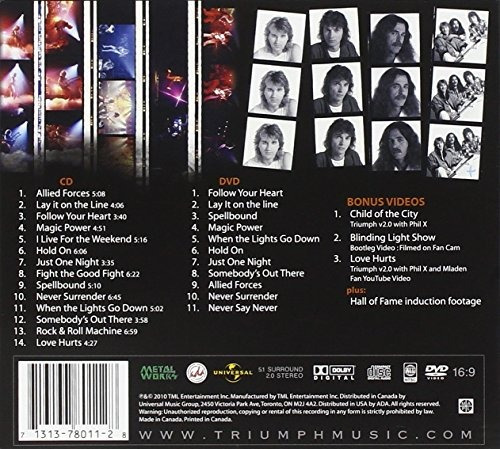 cd : triumph - triumph: greatest hits remixed (with dvd,...