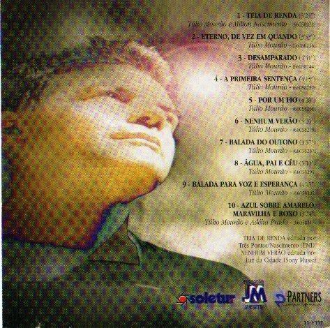 cd túlio mourão - eterno, de vez em quando (velas , 1995)