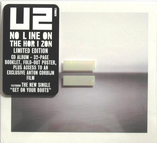cd u2 no line on the horizon importado usa + booklet+poster
