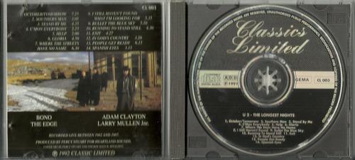 cd u2 - the longest night - 1991 - importado