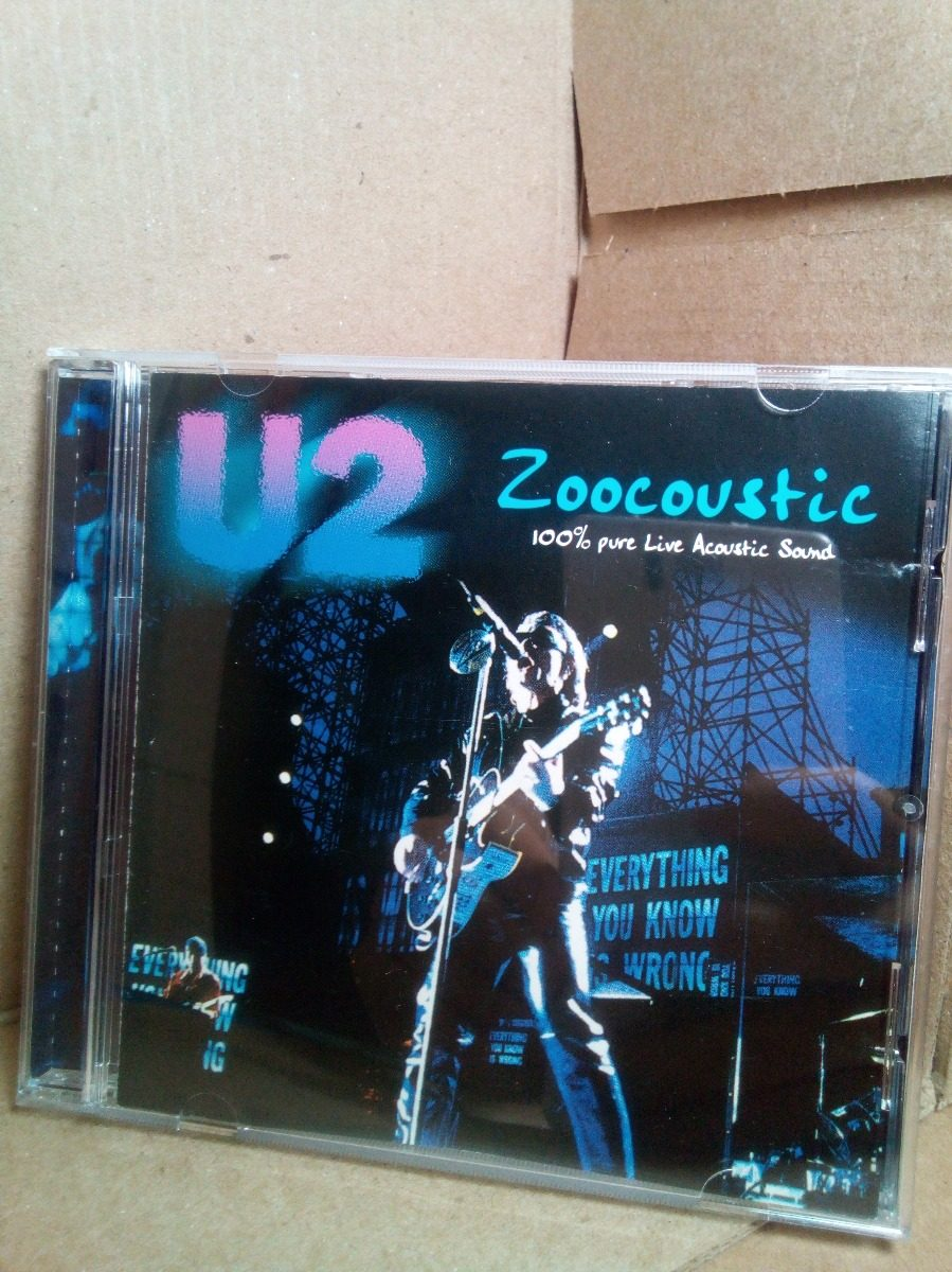 Cd U2 Zoocoustic 100% Pure Live Acoustic Sound Importado