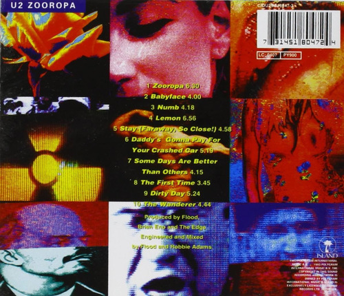 cd - u2 - zooropa - 1993 - original