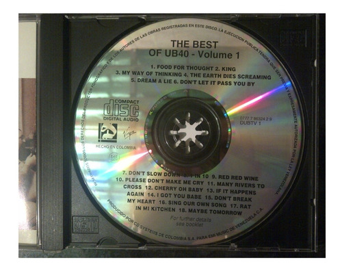 cd - ub40 - the best of - 1987 - original