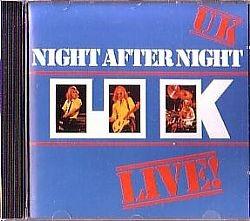 cd uk - night after live (asia) (usado-otimo)