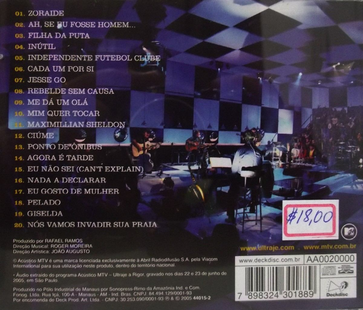 cd do ultraje a rigor acustico mtv