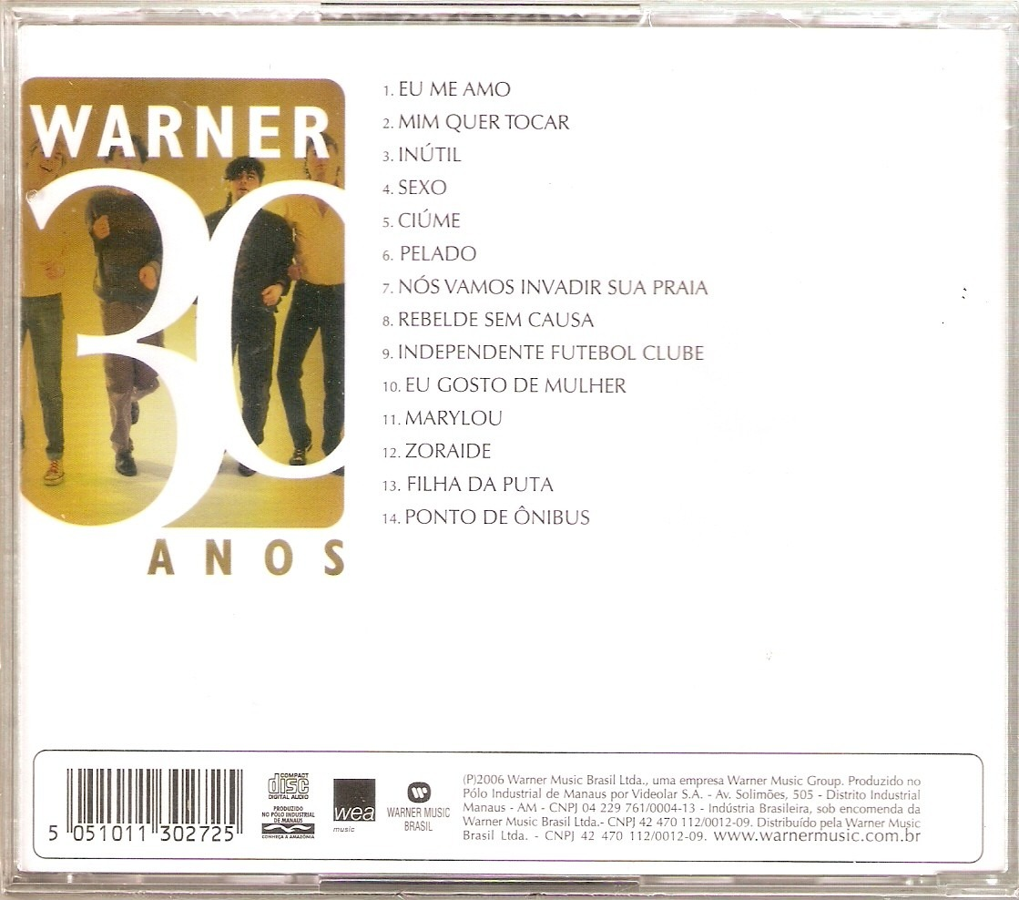 cd warner 30 anos ultraje a rigor