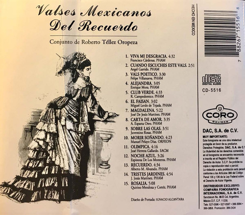 cd valses mexicanos del recuerdo roberto tellez oropeza