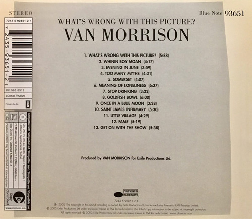 cd van morrison whats wrong with the picture importado eu