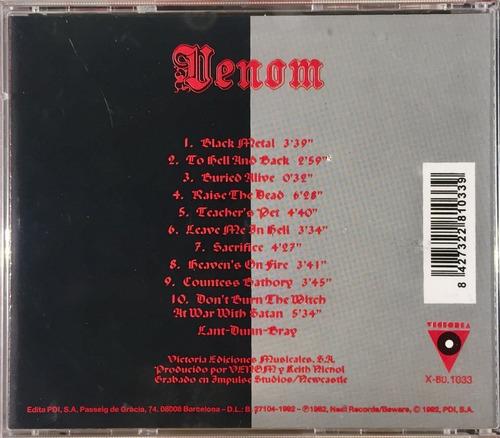cd venom - black metal - importado lacrado espanha 1992