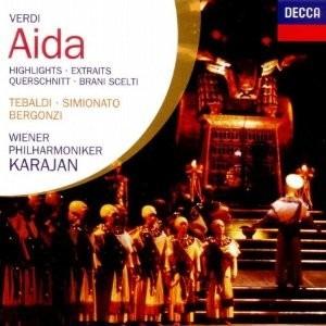 cd verdi: aida (highlights) / karajan
