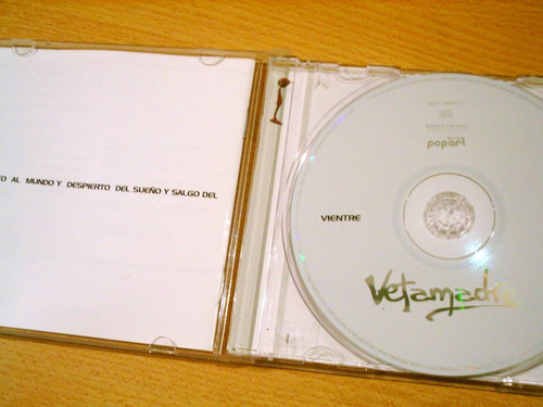 cd vetamadre vientre rock alternativo 2006 muy bueno