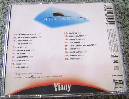 cd vinny - millennium (heloísa,shake boom, tiazinha,gandaia)