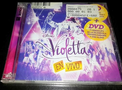 cd violetta en vivo (cd + dvd) nuevo sellado
