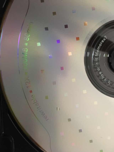 cd virgen regrable cd-rw 700mb/80-minutos 4x memorex