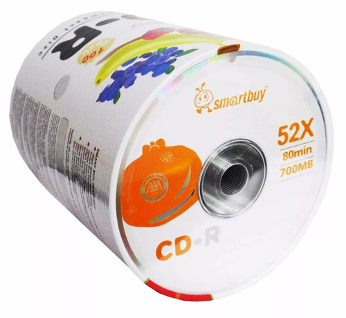 cd virgen smartbuy 52 x 80 min 700mb 100 unidades