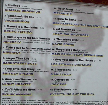 cd virgin hits :charlie brown,iggy pop,david b  b77